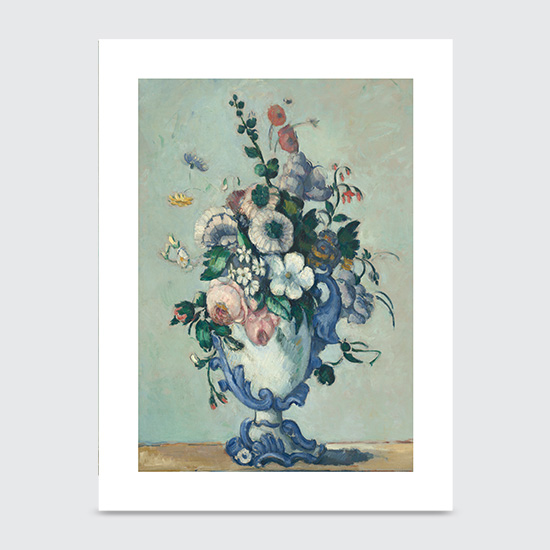 Flowers in a Rococo Vase - Art Print