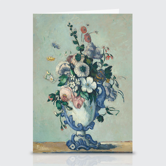 Flowers in a Rococo Vase - Greeting Cards