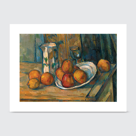 Still Life with Milk Jug and Fruit - Art Print