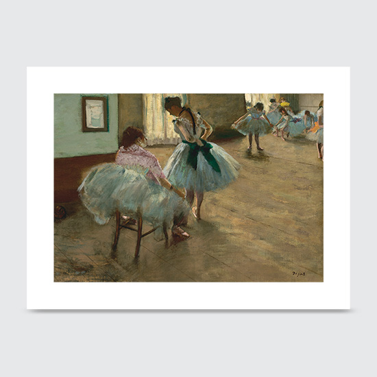 The Dance Lesson - Art Print