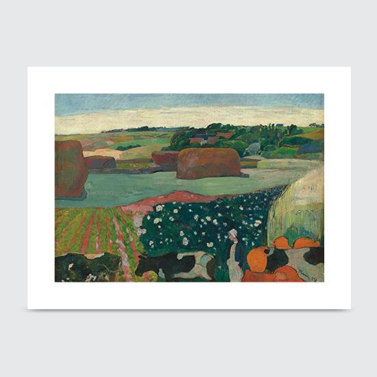 Haystacks in Brittany - Art Print