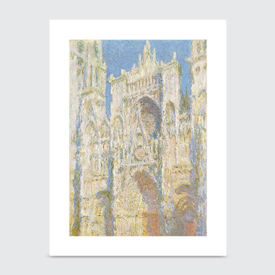 Rouen Cathedral West Façade Sunlight - Art Print