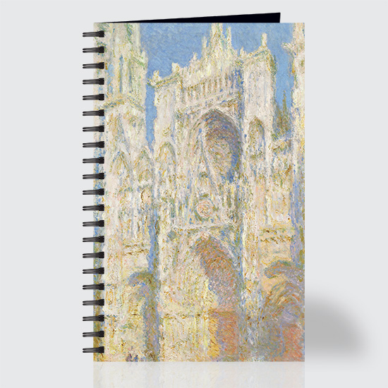 Rouen Cathedral West Façade Sunlight - Journal - Front