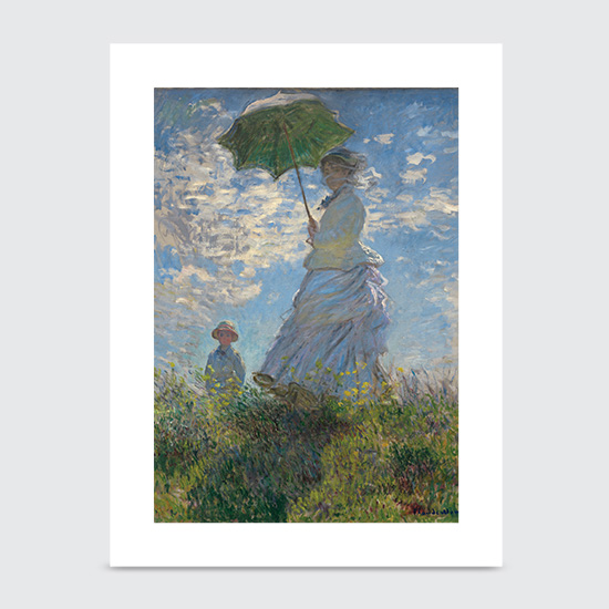 Woman with a Parasol Madame Monet and Her Son - Art Print