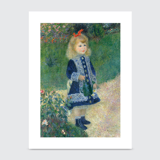 A Girl with a Watering Can - Art Print