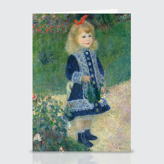 A Girl with a Watering Can - Greeting Cards
