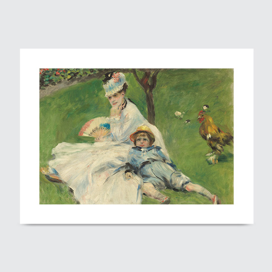 Madame Monet and Her Son - Art Print