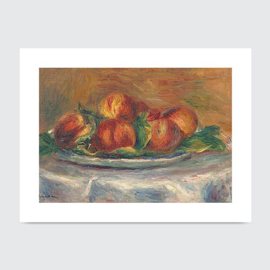 Peaches on a Plate - Art Print