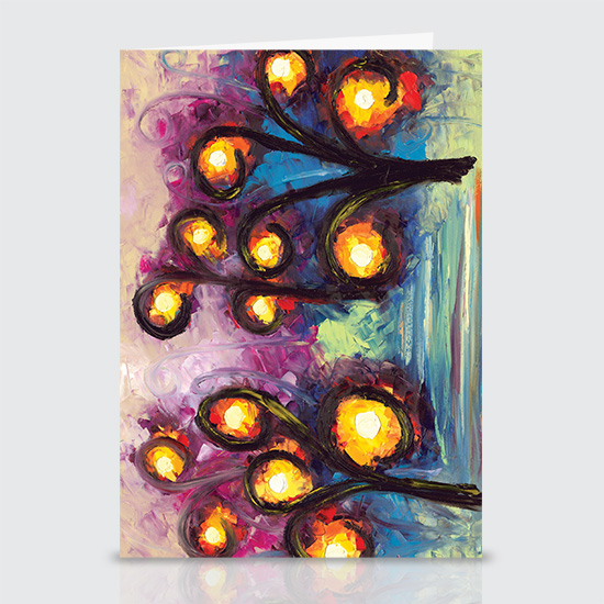 One Light Two Light Red Light Blue Light - Greeting Cards