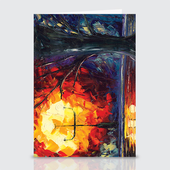 Street Lamps in the Rain - Greeting Cards