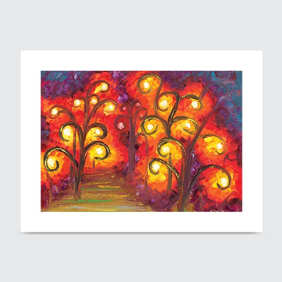 Forest of Fire Orbs - Art Print