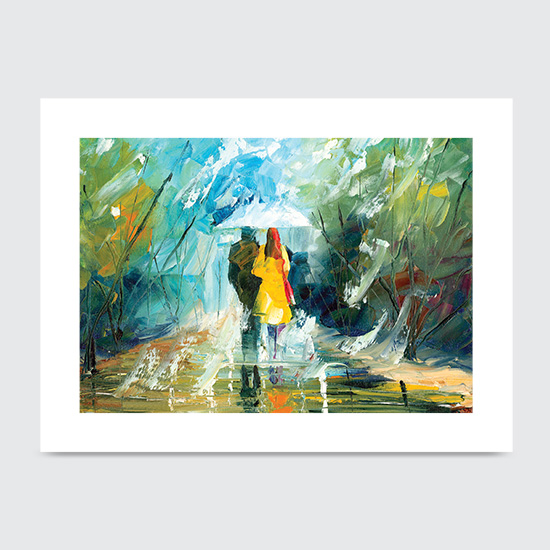 Lovers Stroll - Art Print