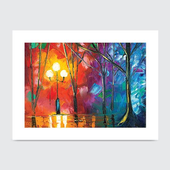 Rainy Rendezvous - Art Print