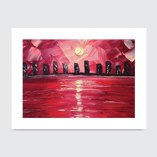Red Skyline - Art Print