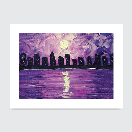 Purple Skyline - Art Print