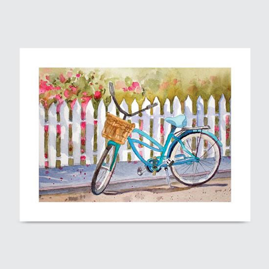 Lazy Daze Bike - Art Print