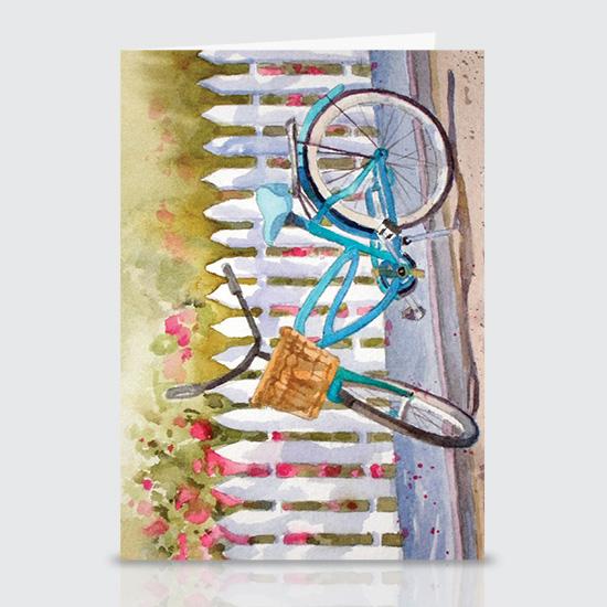 Lazy Daze Bike - Greeting Cards