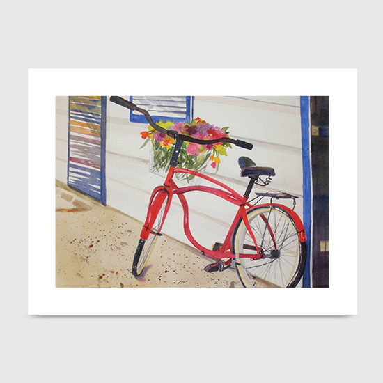Red Bike - Art Print