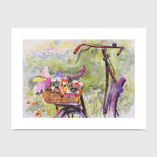 Bike Bouquet - Art Print
