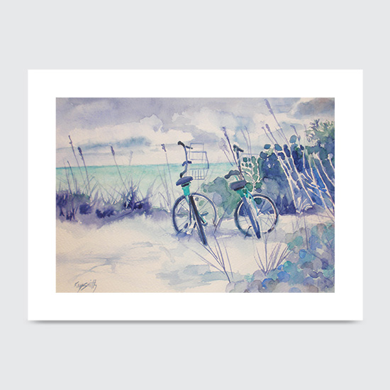 Beach Bikes - Art Print