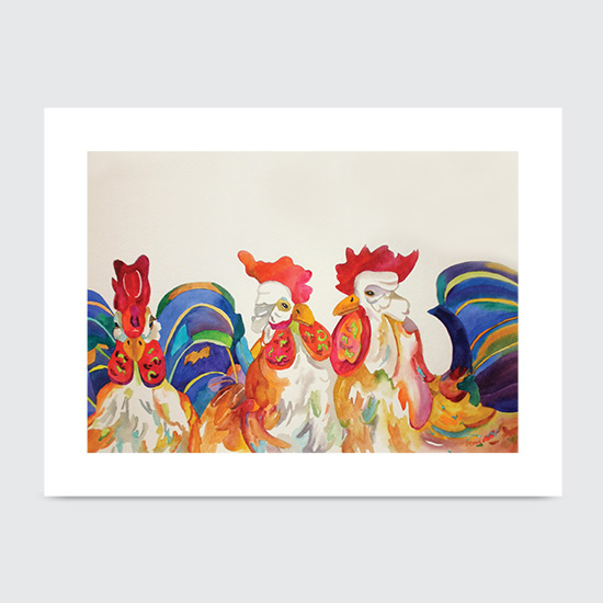 Designer Chickens - Art Print