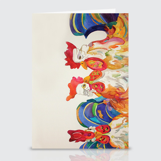 Designer Chickens - Greeting Cards