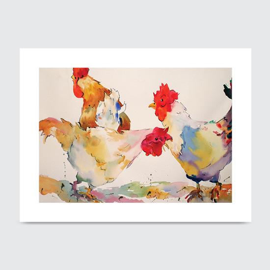Mad as Wet Hen - Art Print