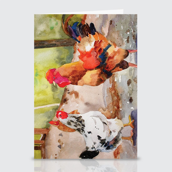 Mollies Chickens - Greeting Cards