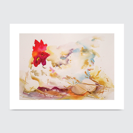EggstraOrdinary Hen - Art Print