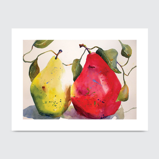 Partnership Pears - Art Print