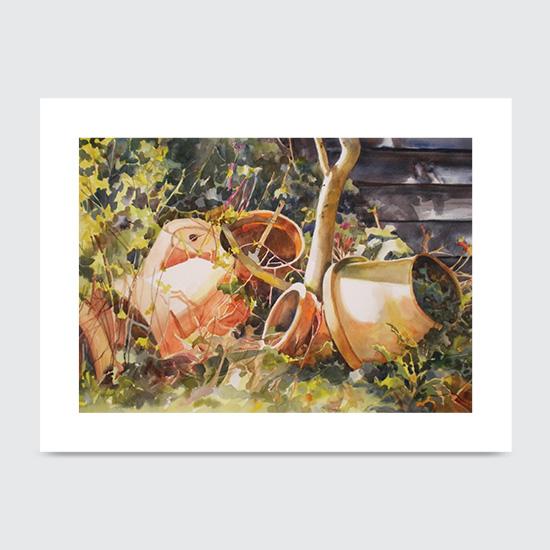 Joannas Pots - Art Print