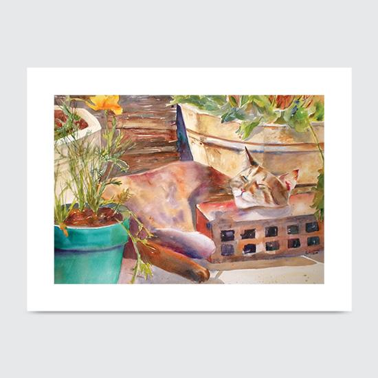 Buttercup and Pots - Art Print