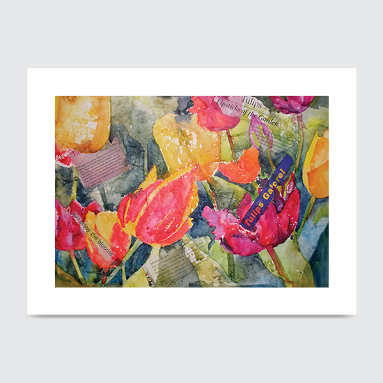 Lipsticks of Garden - Art Print