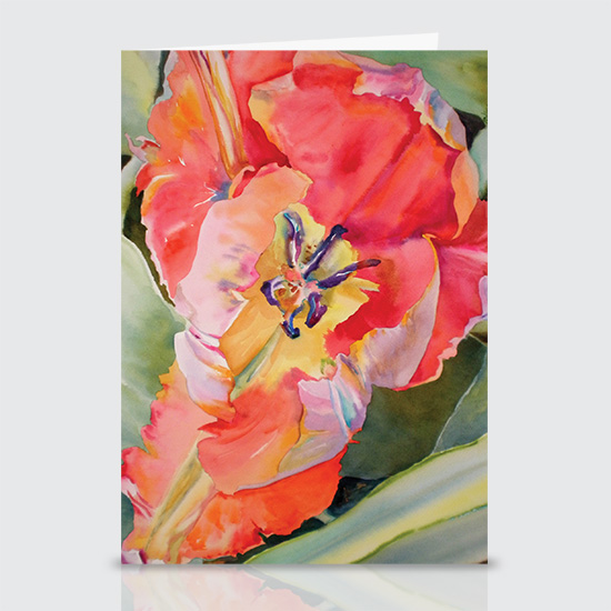 Flaming Parrot Tulip - Greeting Cards