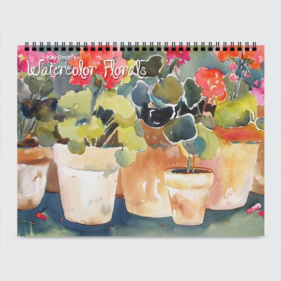 Watercolor Florals - Calendar - Cover