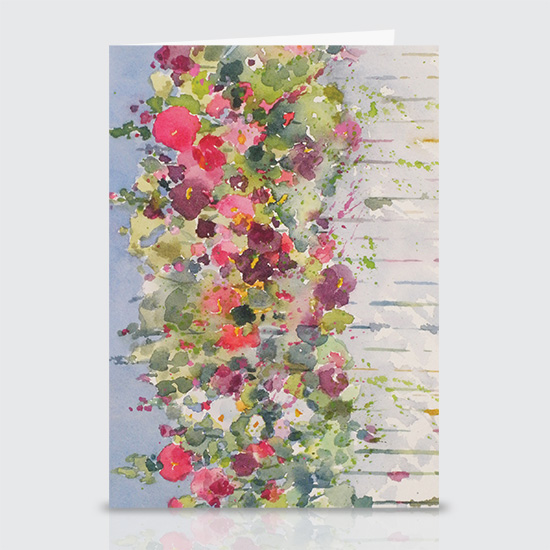 Flowers on a Fence - Greeting Cards