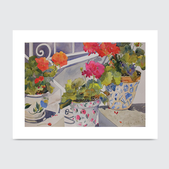 Patio Flowers - Art Print