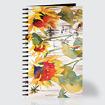 White Picket Sun Flowers - Journal - Front