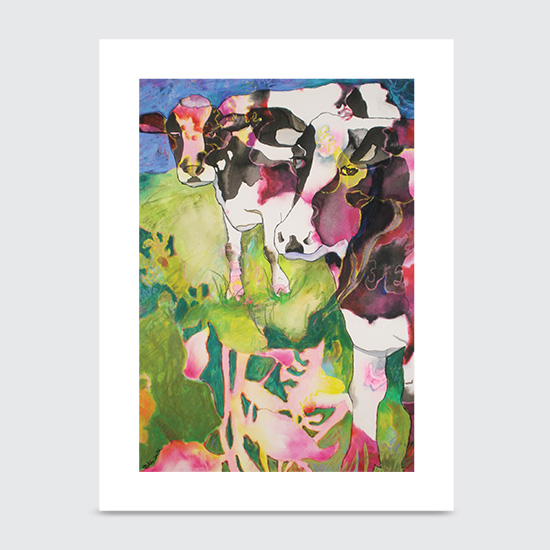 Colorful Holsteins - Art Print