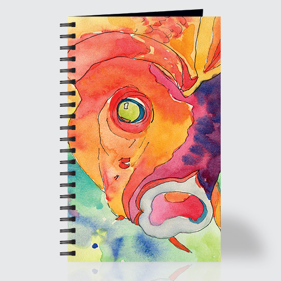 Watercolor Koi - Journal - Front
