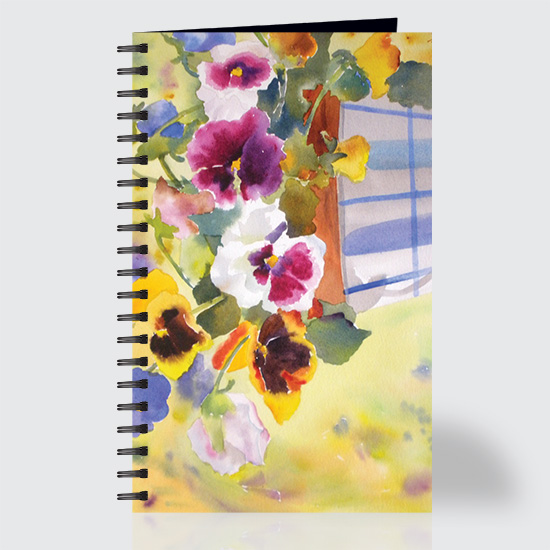 Potted Pansies - Journal - Front
