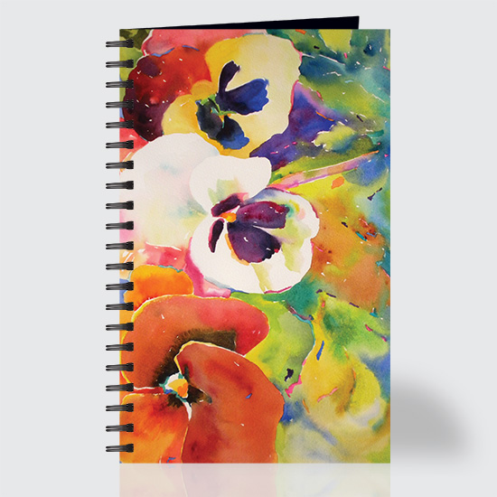 Watercolor Pansies - Journal - Front