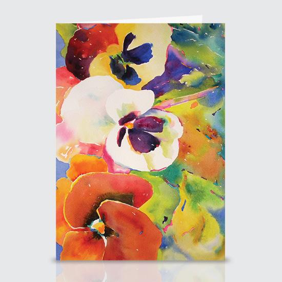 Watercolor Pansies - Greeting Cards