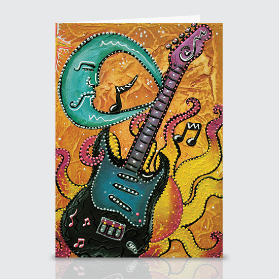 Celestial Guitar - Greeting Cards