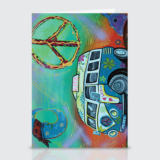Hippie Trip - Greeting Cards