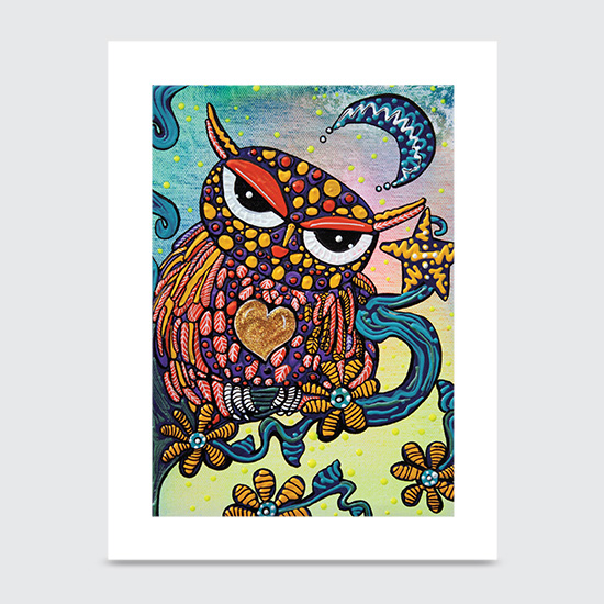 Mystical Owl - Art Print
