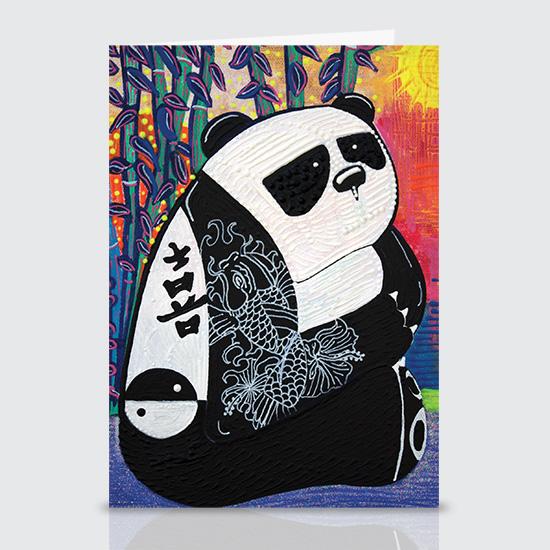 Panda Zen Master - Greeting Cards