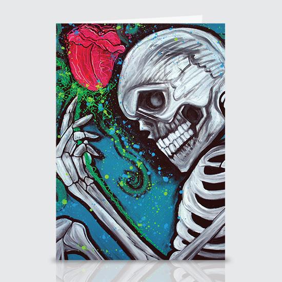Skeleton Rose - Greeting Cards