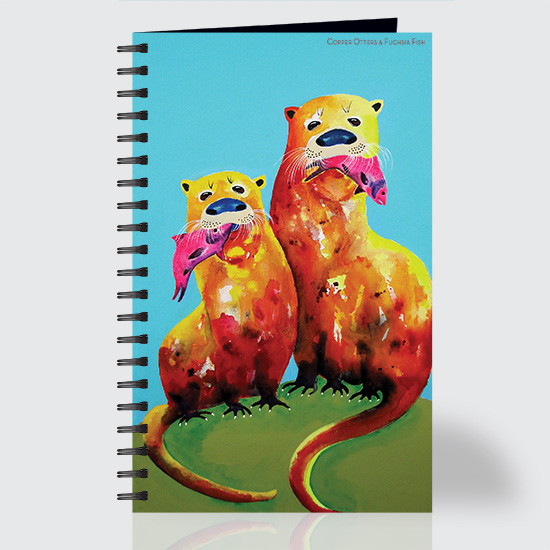 Copper Otters & Fuchsia Fish - Journal - Front