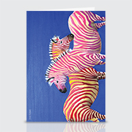 Diva Zebras - Greeting Cards